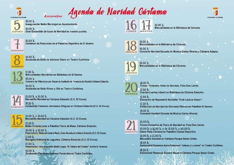 Agenda Navidad Cártama 2019