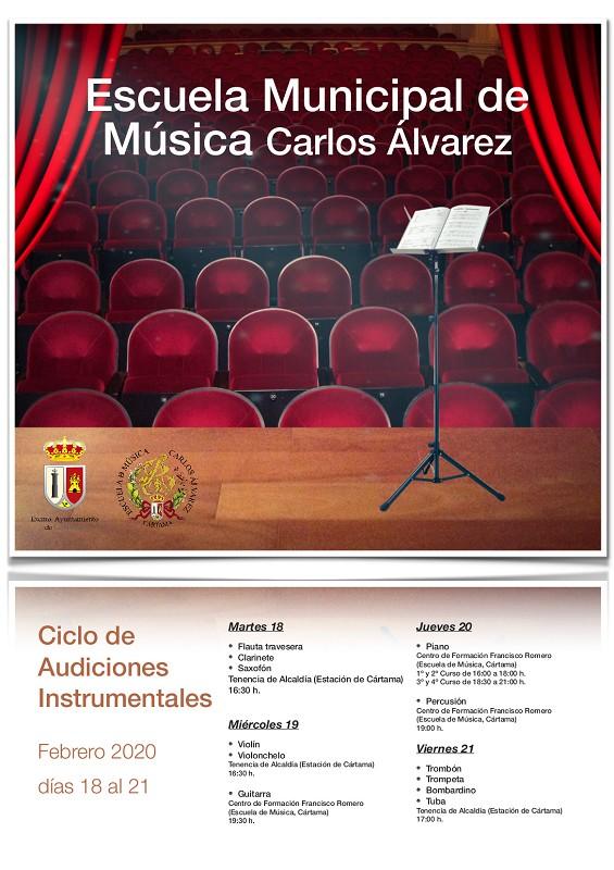 Audiciones Escuela de Música Cártama 2020