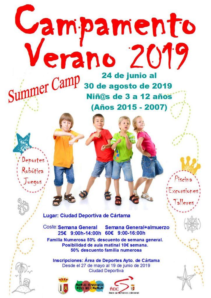 Campamento verano Cártama 2019
