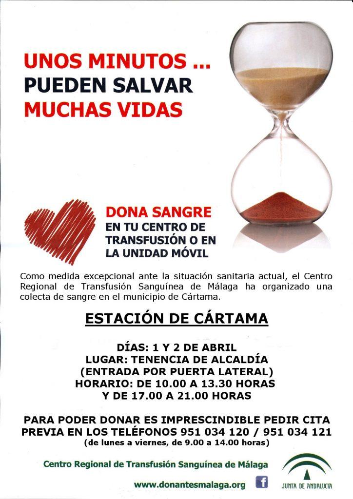 Donación Sangre Cártama Abril 2020