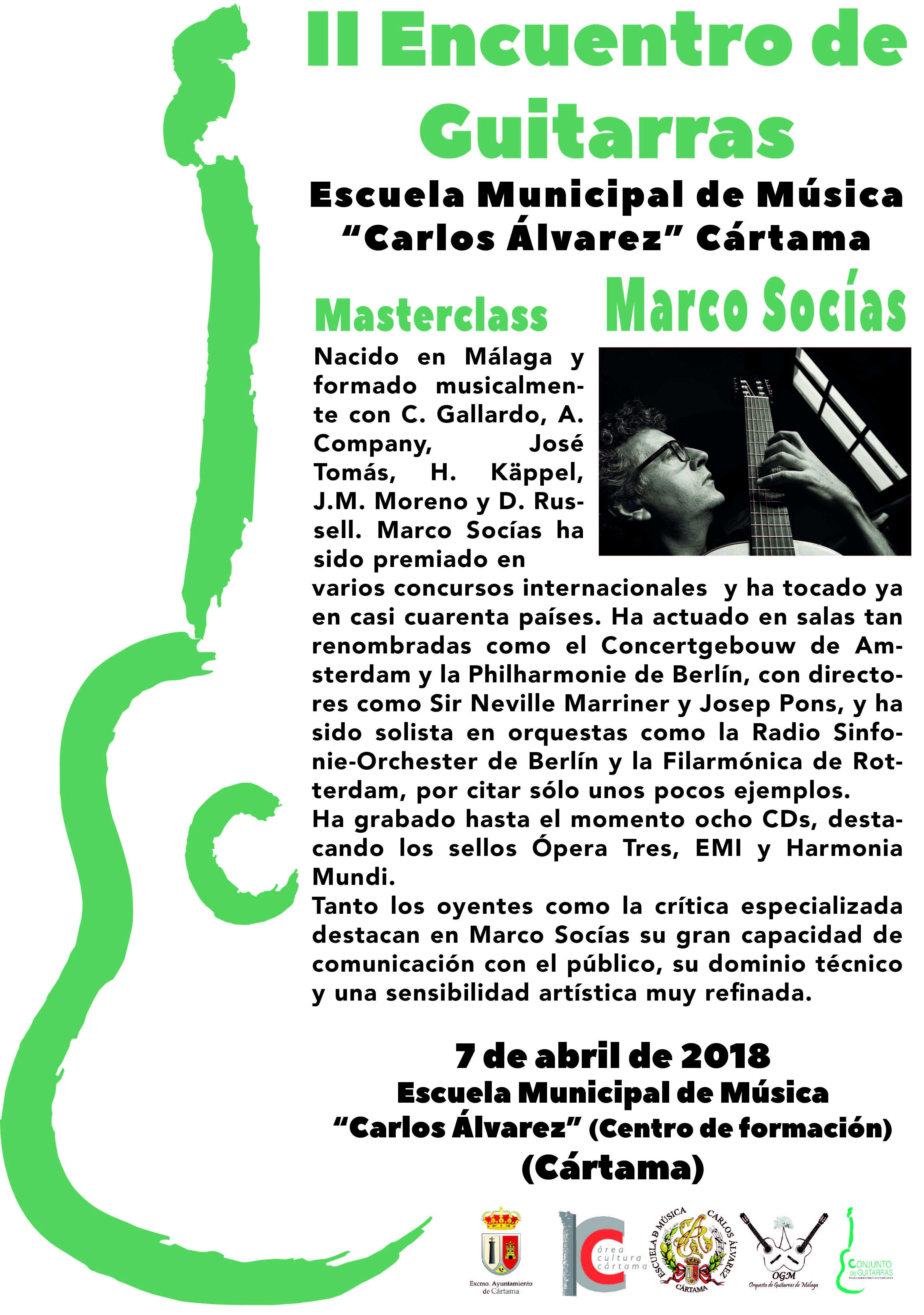 cartel Encuentro Guitarras info Marco Socias