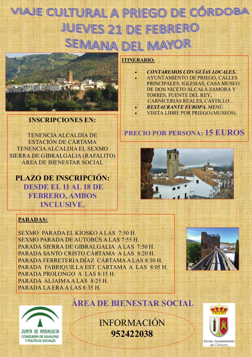 cartel-viaje-a-priego-semana-del-mayor- Cártama 210219