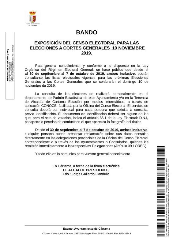 Censo Electoral 2019