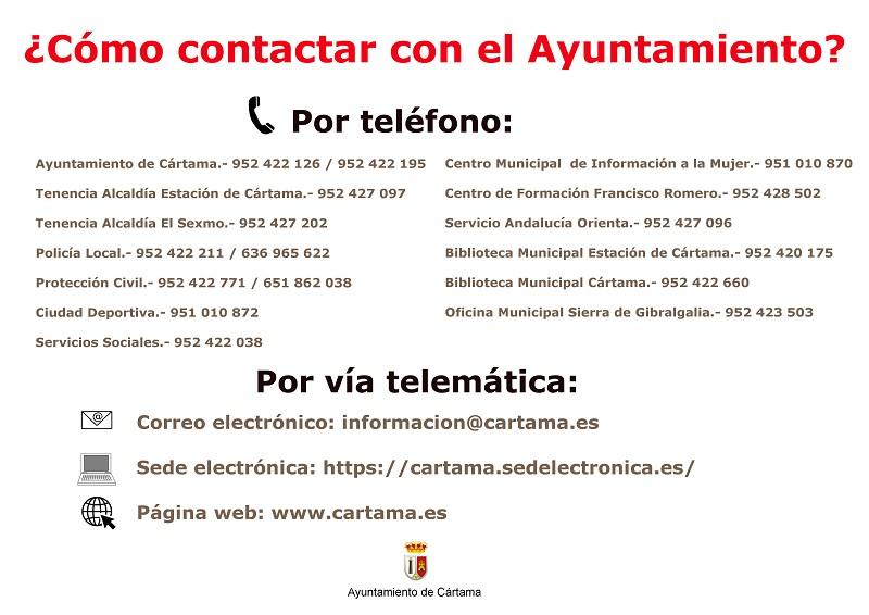 Contactos Ayuntamiento de Cártama