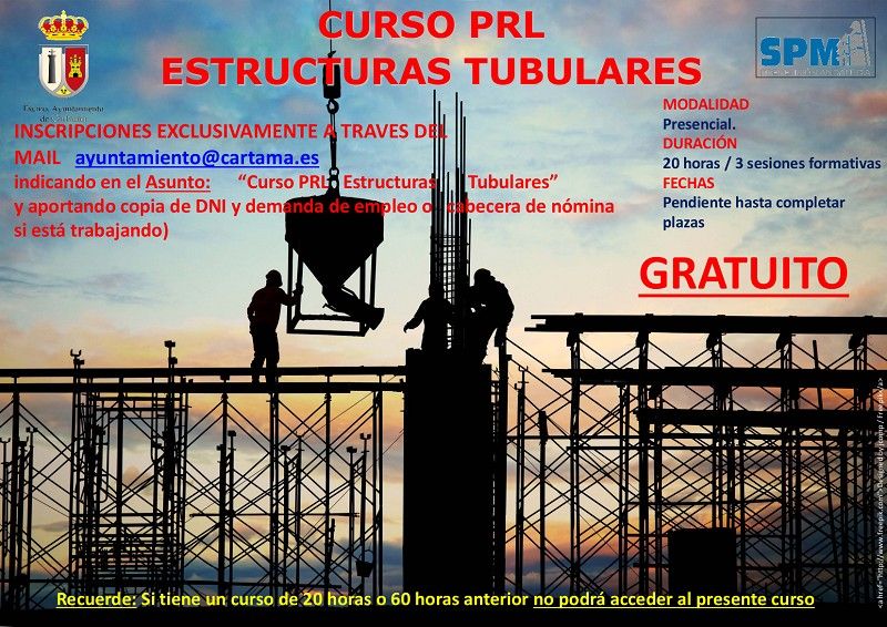 Curso PRL estructuras tubulares Cártama