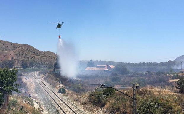 Incendio forestal Cártama