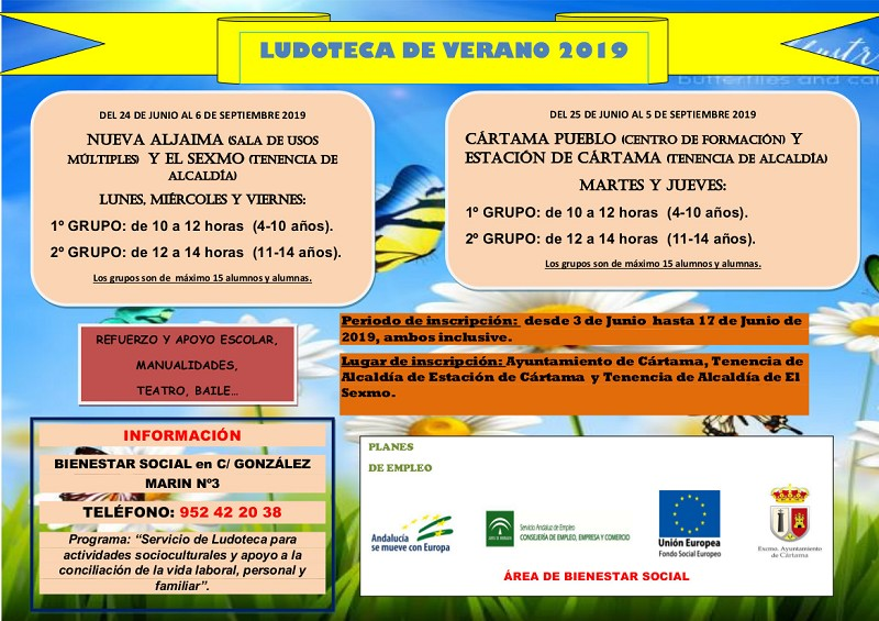 Ludoteca Cártama Verano 2019