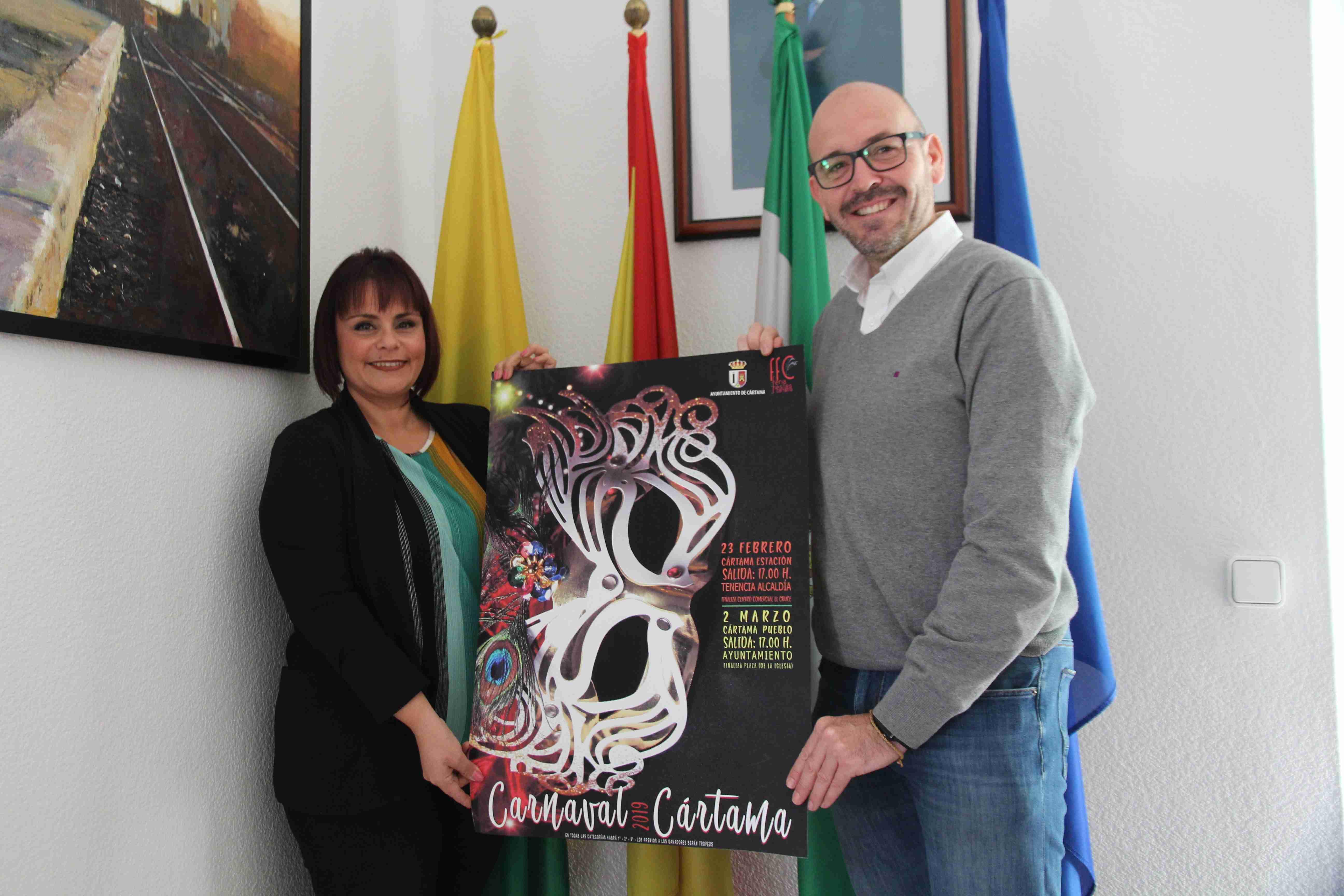 Jorge Gallardo en presentacion-cartel-carnaval-2019