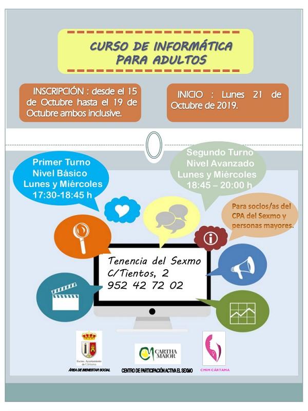Taller Informática CPA El Sexmo