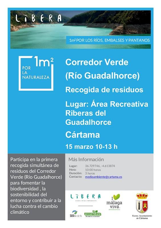 Recogida residuos río Guadalhorce
