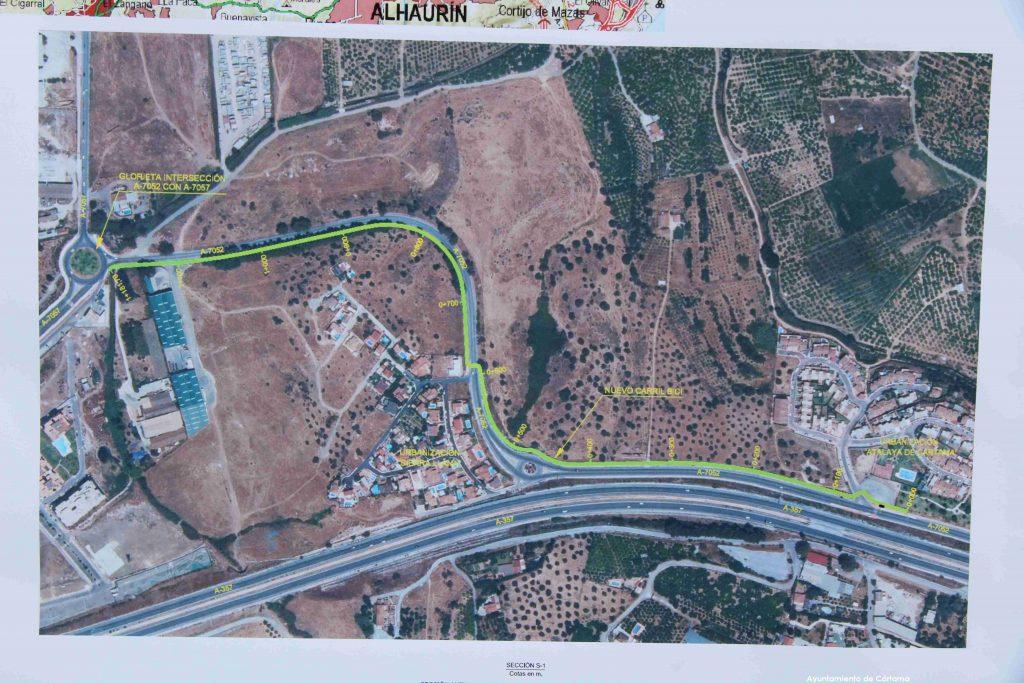 visitas-delegada-gobierno-y-fomento-zona-via-ciclo-peatonal-dona-ana-rotonda-carretera-a7057-160620-3