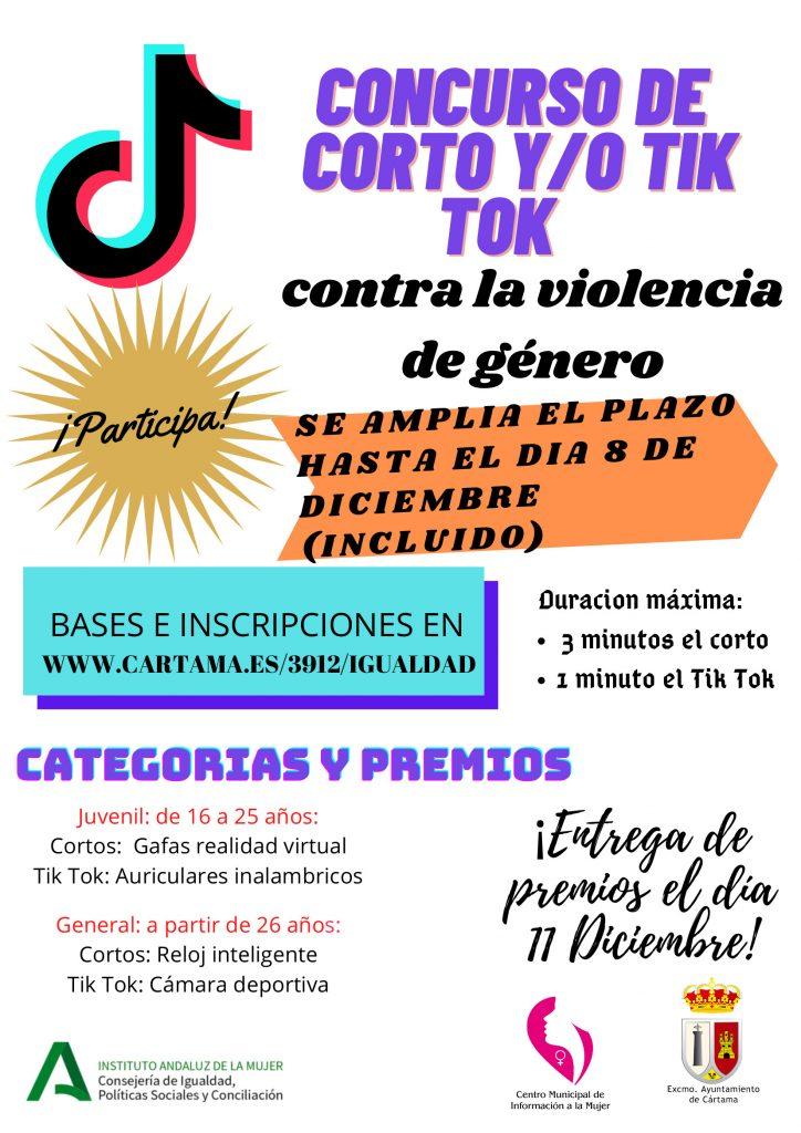 concurso-de-cortos-y-tik-tok-contra-violencia-de-genero-ampliacion-del-plazo